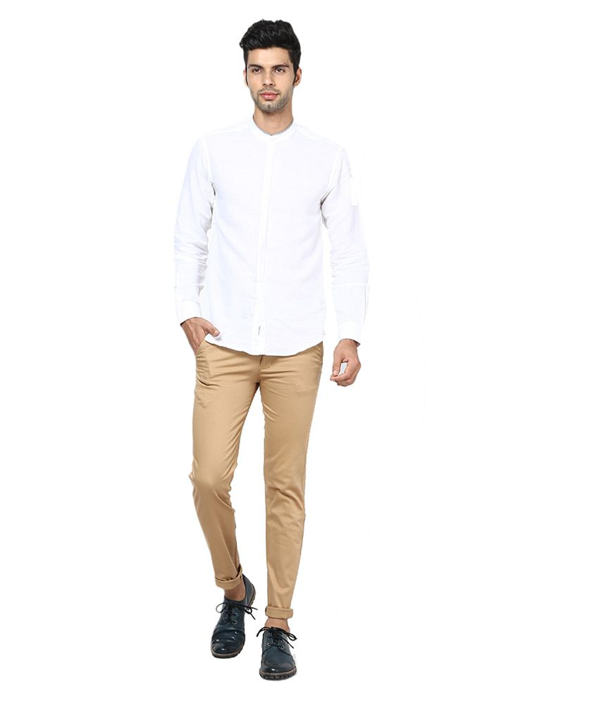 Inspire Clothing Inspiration Khaki Slim Casual Chinos