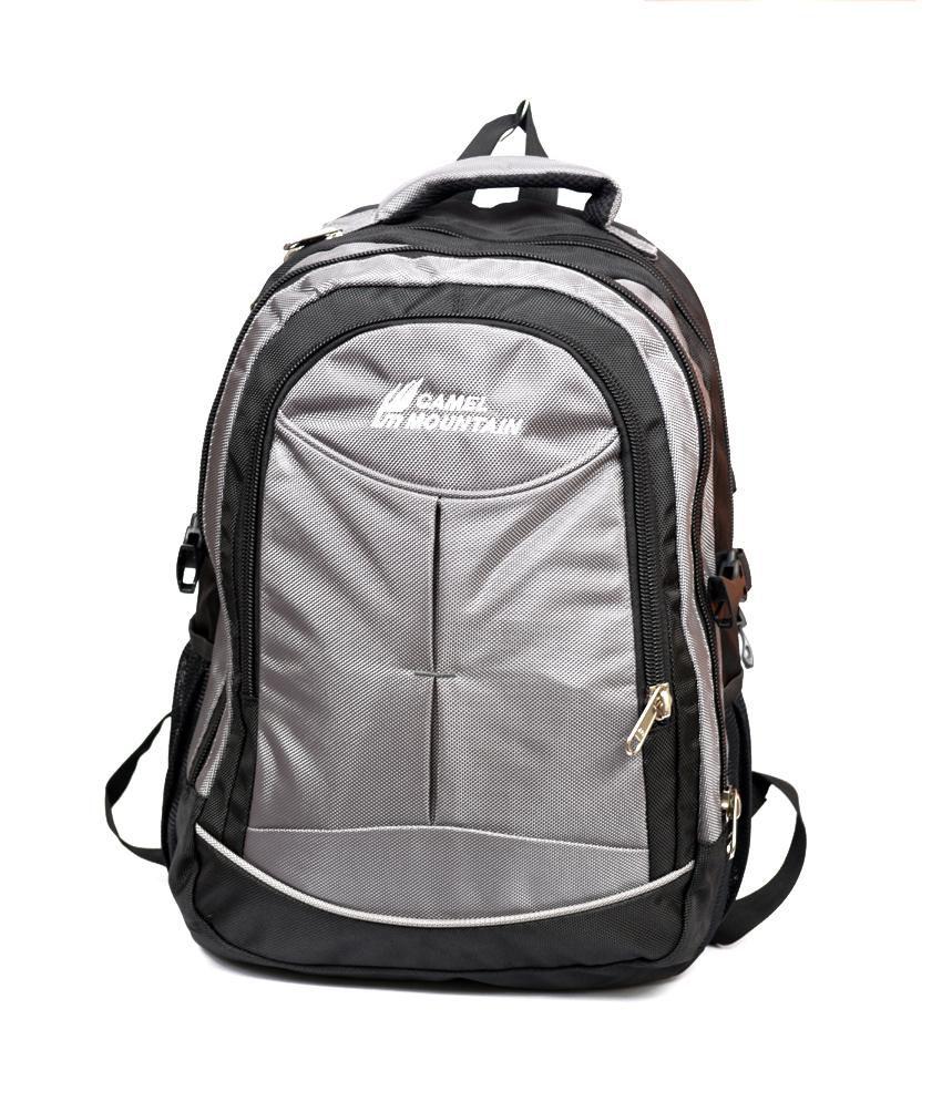Camel Mountain Grey And Black Laptop Bag