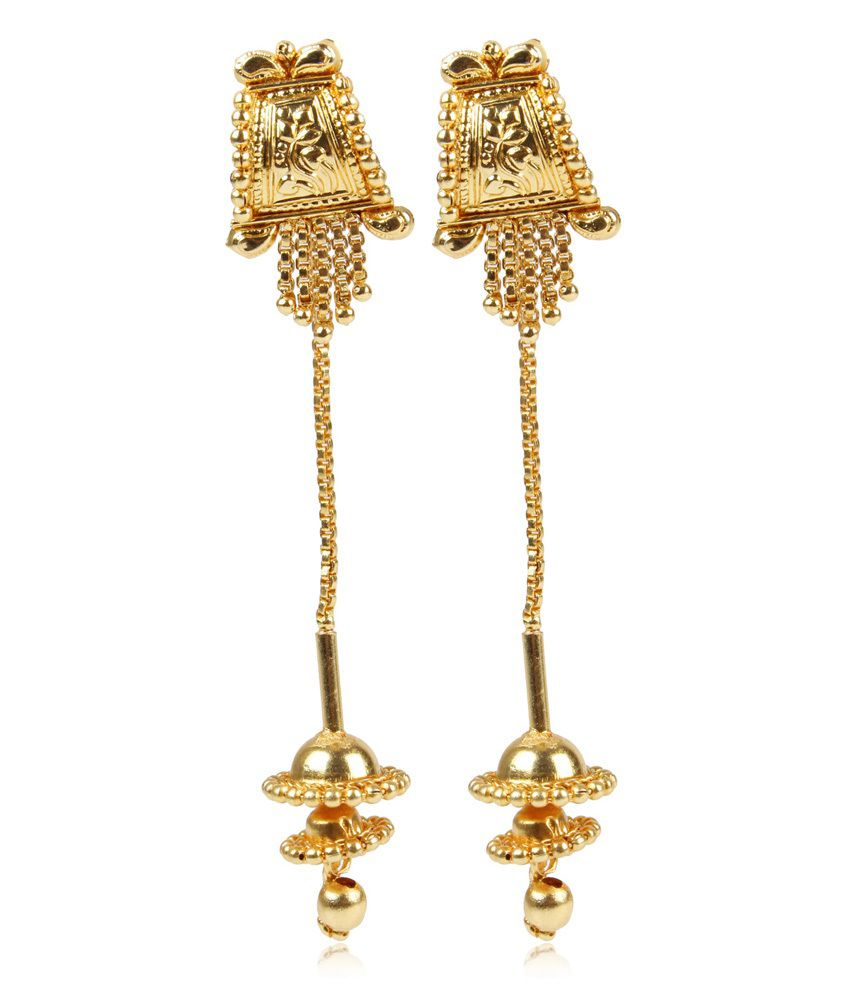 Dee Gee Sui Dhaga Gold Earrings Buy Dee Gee Sui Dhaga Gold