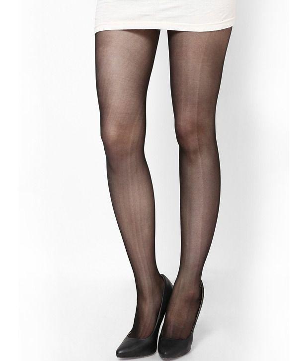 e5ed6da637e Femella Black Nylon Stockings  Buy Online at Low Price in India - Snapdeal