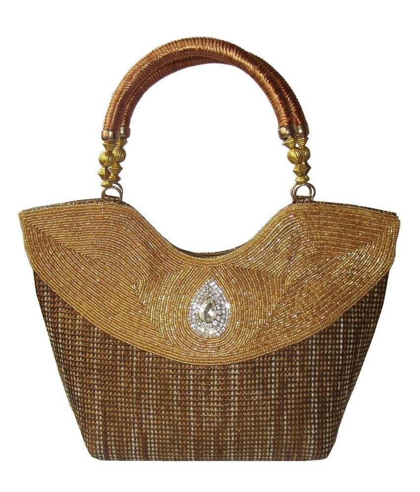 Moksh Gold Satchel Bags
