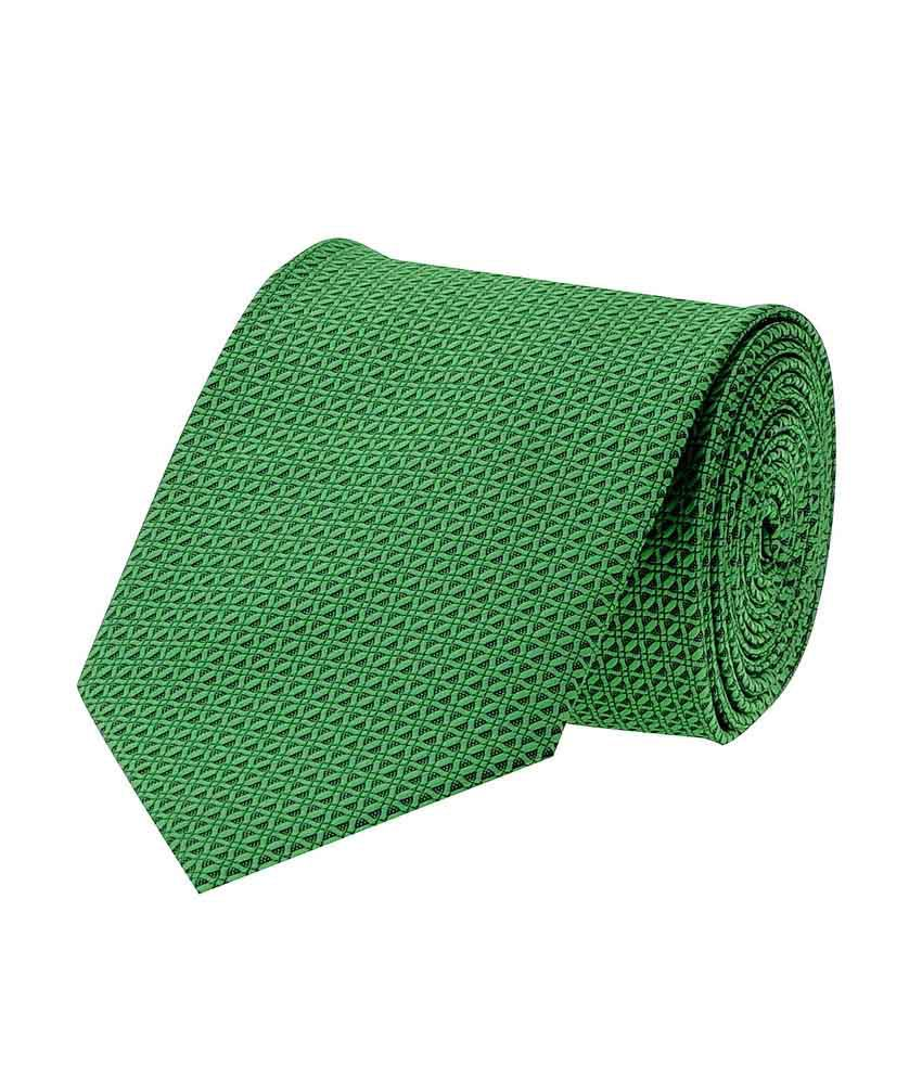 Tiekart Green Micro Fiber Formal Narrow Ties