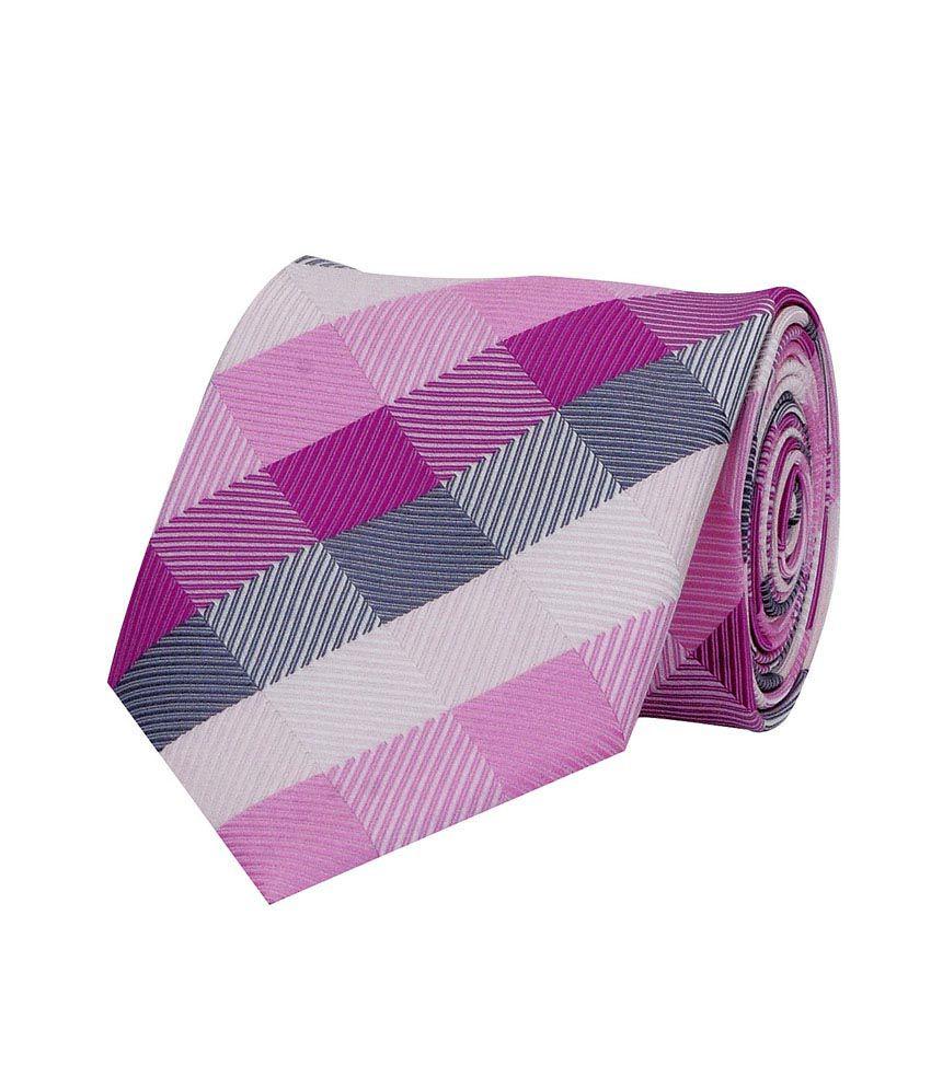 Tiekart Pink Micro Fiber Formal Narrow Ties