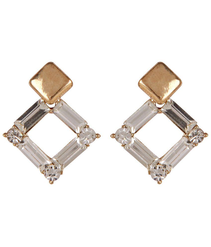 Lazreena Golden Stud Earrings