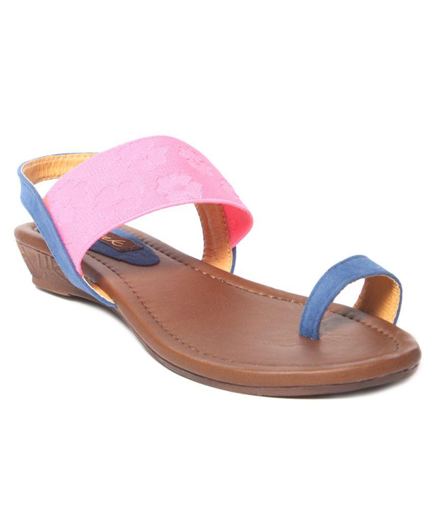 Pink Pink Wedges Sandals