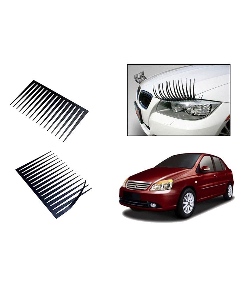 Speedwav Car Stylish Headlight Eyelashes Set Of 2 Tata Indigo Cs