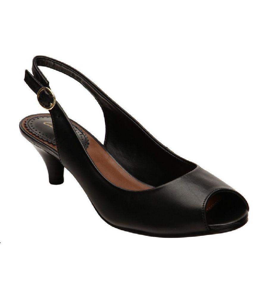 Clarks Black Stiletto Sandals