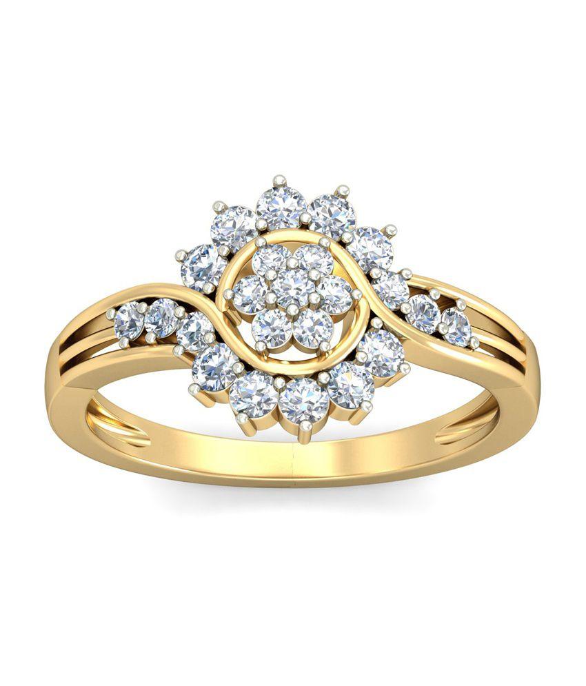 18Kt HALLMAKRED Gold & IGI CERTIFIED Diamonds The Davina Ring By PC Jeweller