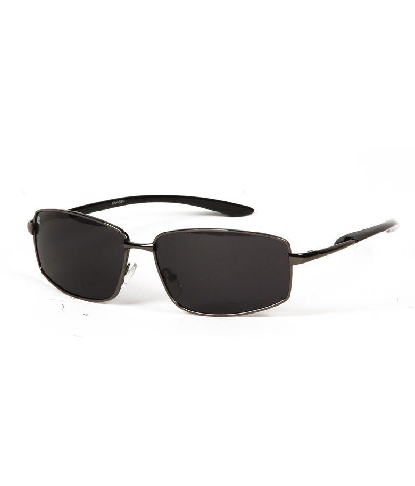 Kapapai KAP-TS-SNGLS-SP6-BLK Medium Men Rectangle Sunglasses