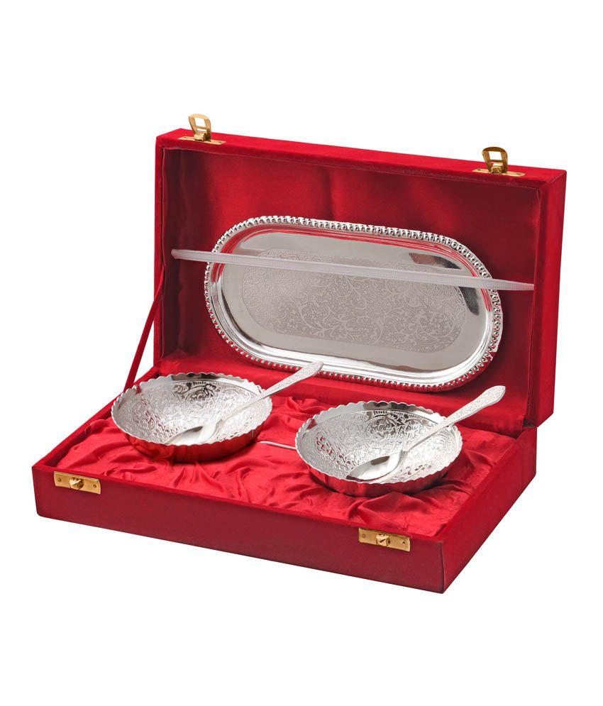 Abrazo Silver Bowl Set