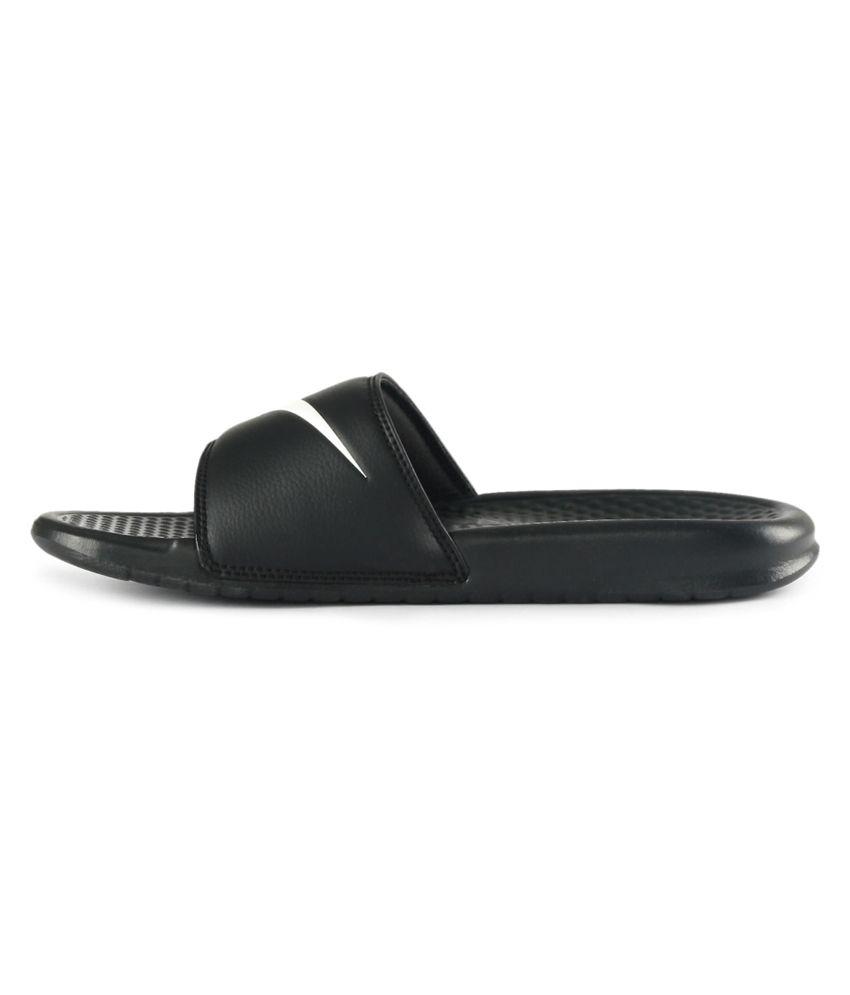 e0cfdd36c3a82 Nike Black Benassi Swoosh Price in India- Buy Nike Black Benassi ...