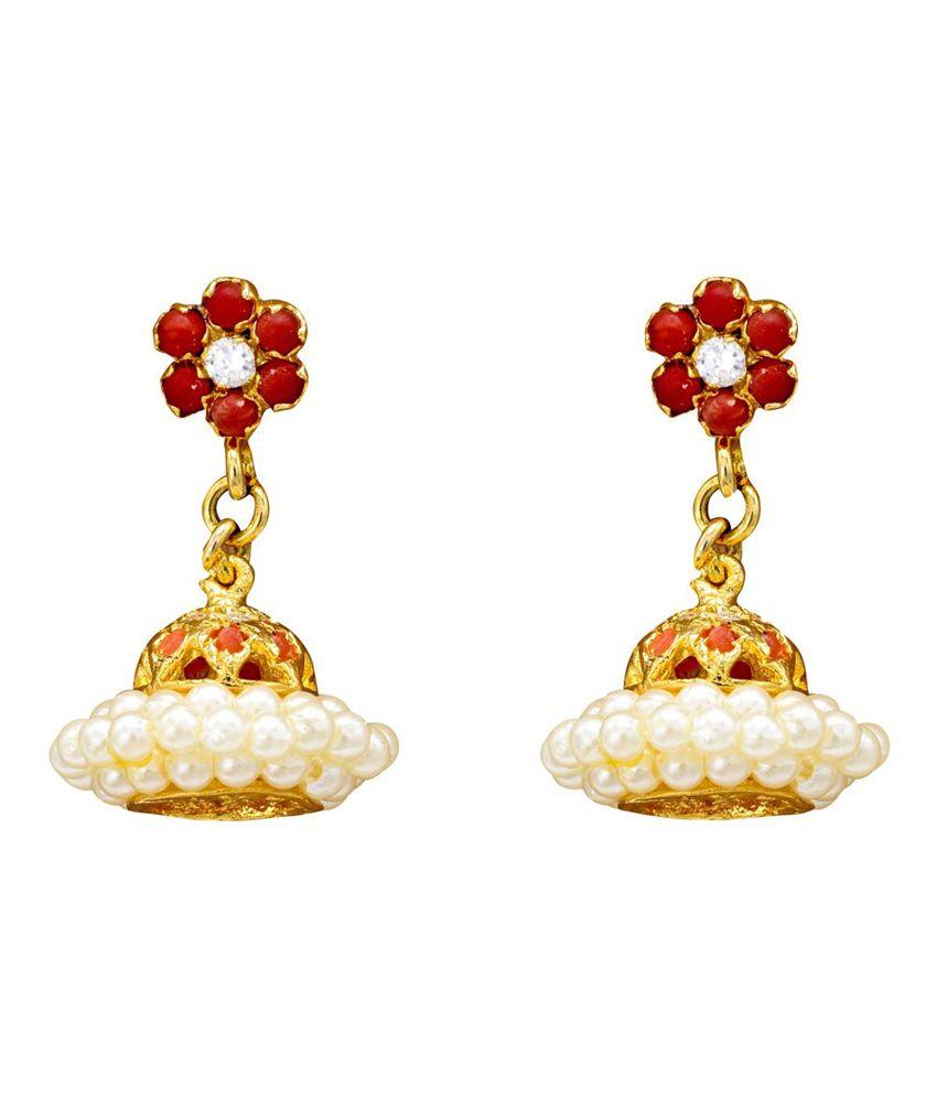 Pearls Cart Multi Circle Of Life Alloy Hangings Earrings