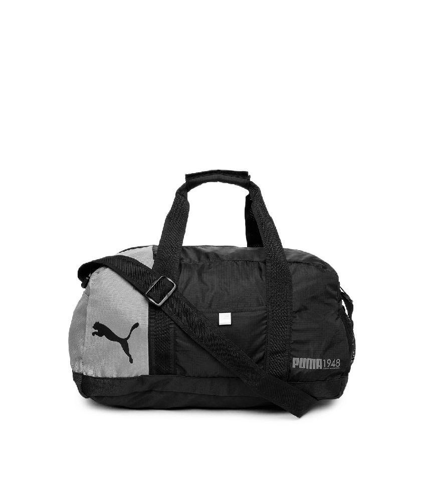 4ea8a7006d9e Puma Unisex Fundamentals (7257401-x) Black   Grey Duffle Bag - Buy Puma  Unisex Fundamentals (7257401-x) Black   Grey Duffle Bag Online at Low Price  - ...
