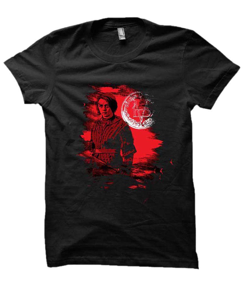 Eetee Black Cotton T-shirt