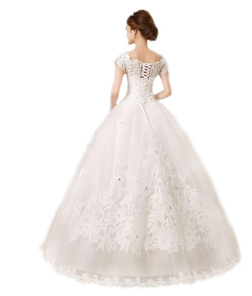 99e2e444e La Fanatise White Net Gowns - Buy La Fanatise White Net Gowns Online ...