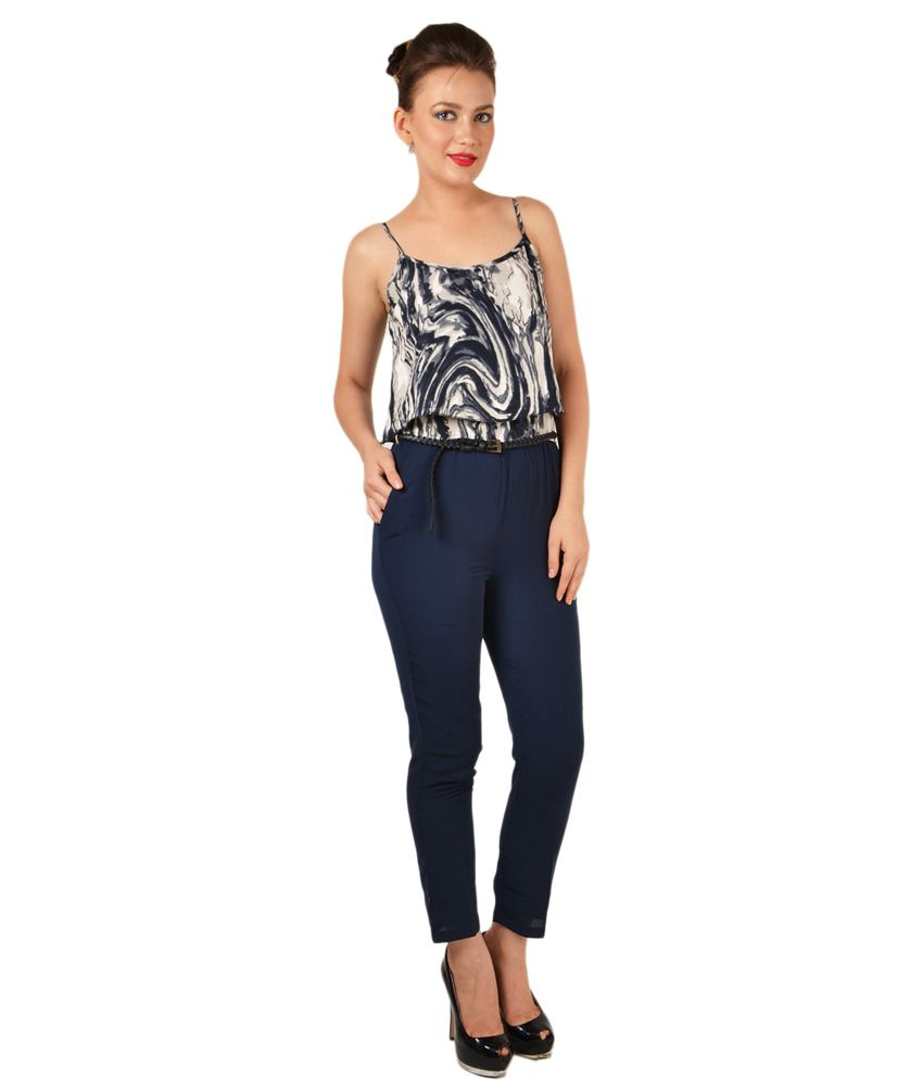 1841c17778d Magnetic Designs Navy Casual Crepe Long Jumpsuits - Buy Magnetic Designs  Navy Casual Crepe Long Jumpsuits Online at Best Prices in India on Snapdeal