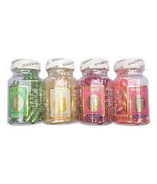 Aloe Vera & Vitamin E Facial Oil Capsules , 60 Capsules each (Pack of 4) - Assorted Colors