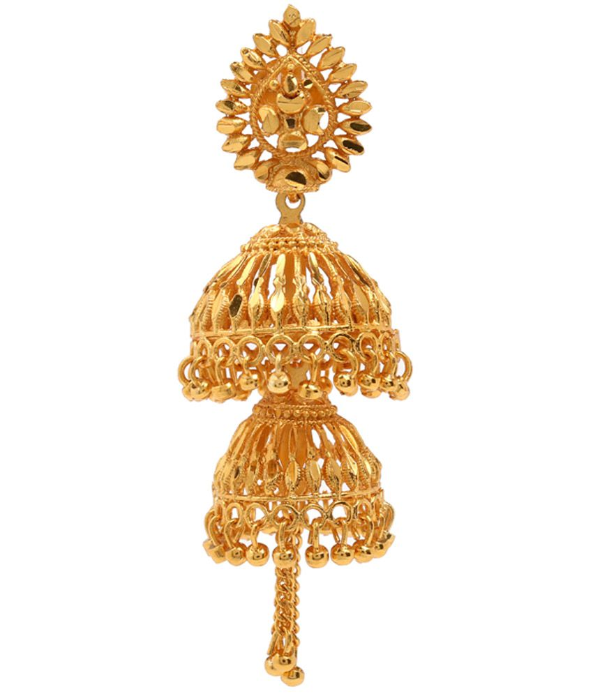 Gold Plated Double Jhumka Earrings by GoldNera - Buy Gold Plated ...