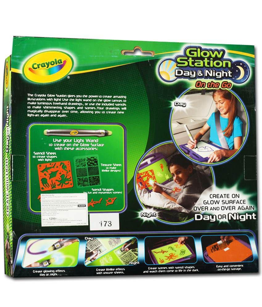 crayola glow station day and night buy crayola glow station day