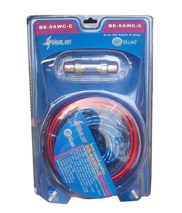 BLUE-i 8 GAUGE Amplifier / Amp Wiring kit with 2-4 channel converter ...