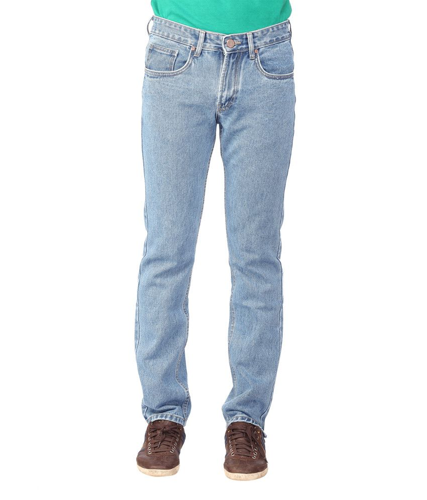 Oxford Blue Slim Fit Faded Jeans