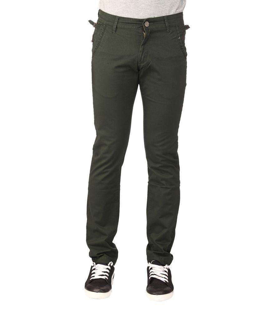Oxford Green Slim Fit Chinos