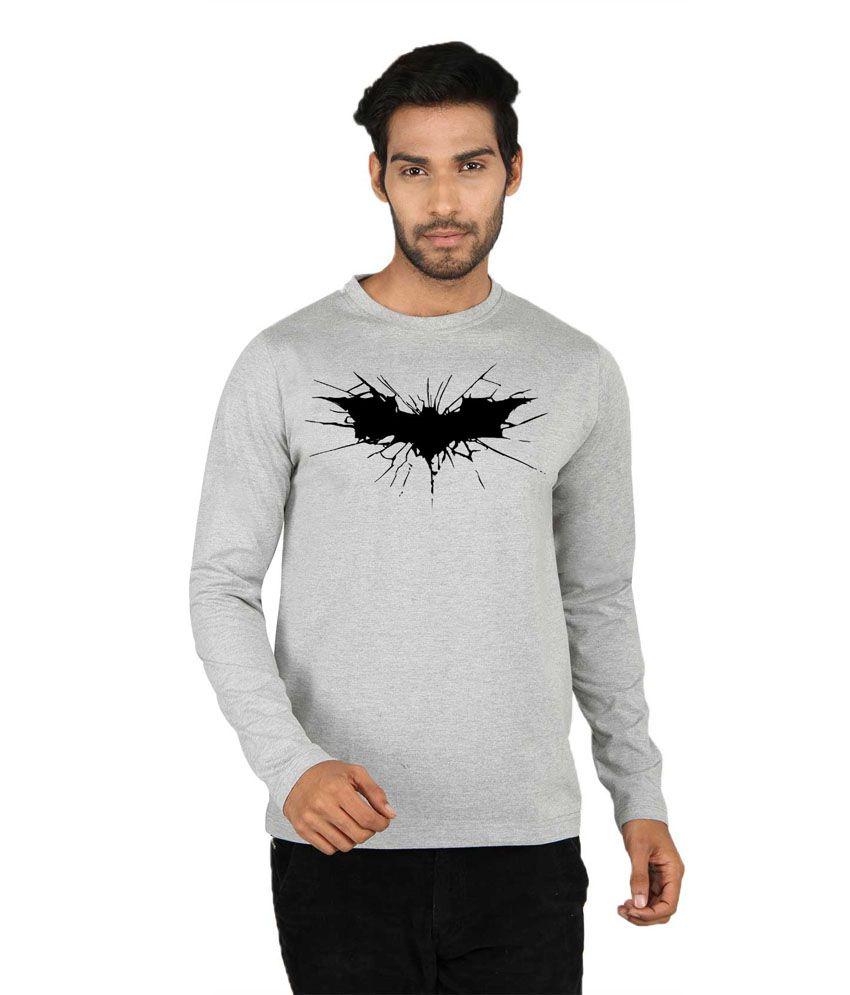 Sayitloud Batman Printed Grey Full Sleeve T Shirt - Buy Sayitloud ...