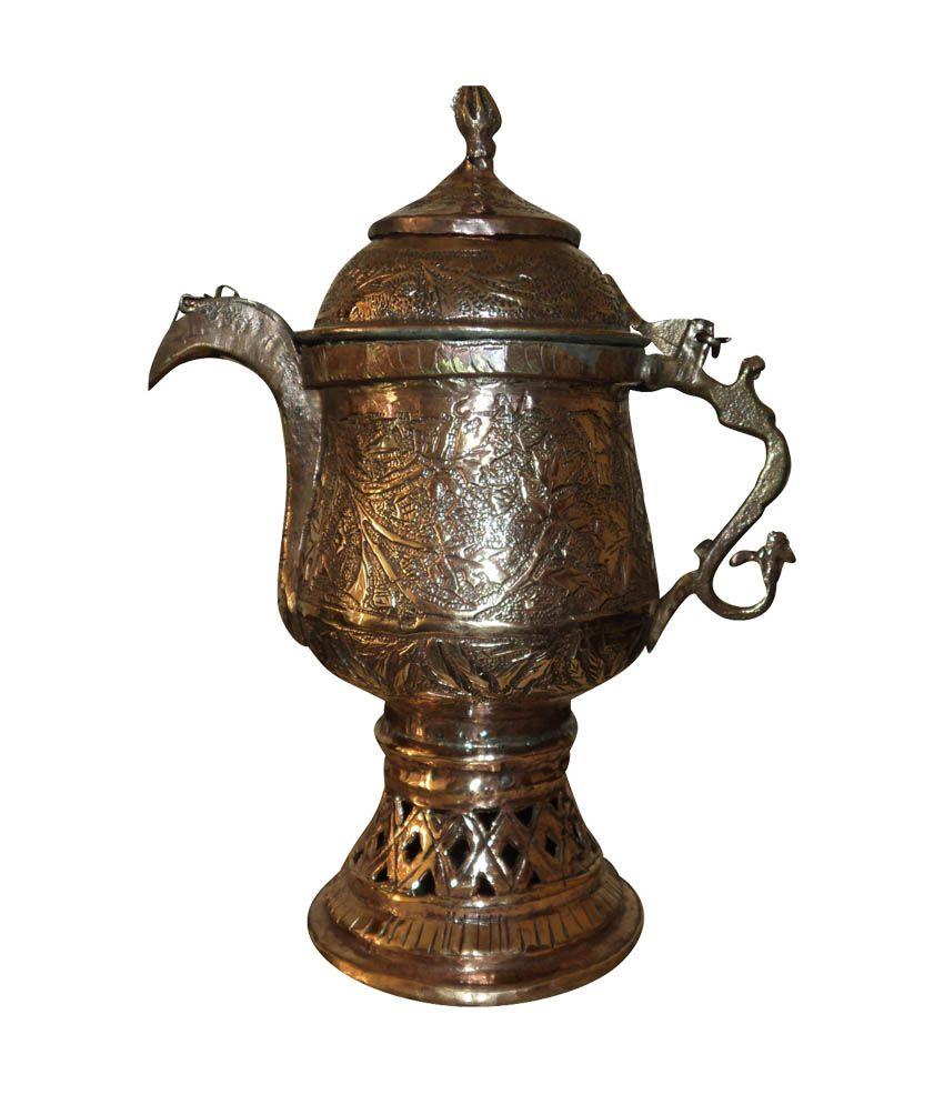 Copper Samawar Glossy Brass Antique