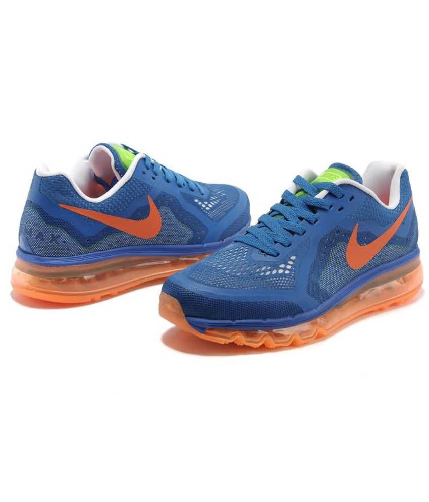 Nike Airmax 2014 Blue Orange Running Sports Shoes - Buy ...