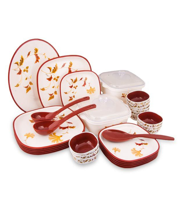 dinner set brown 32pcs buy online at best price in india snapdeal