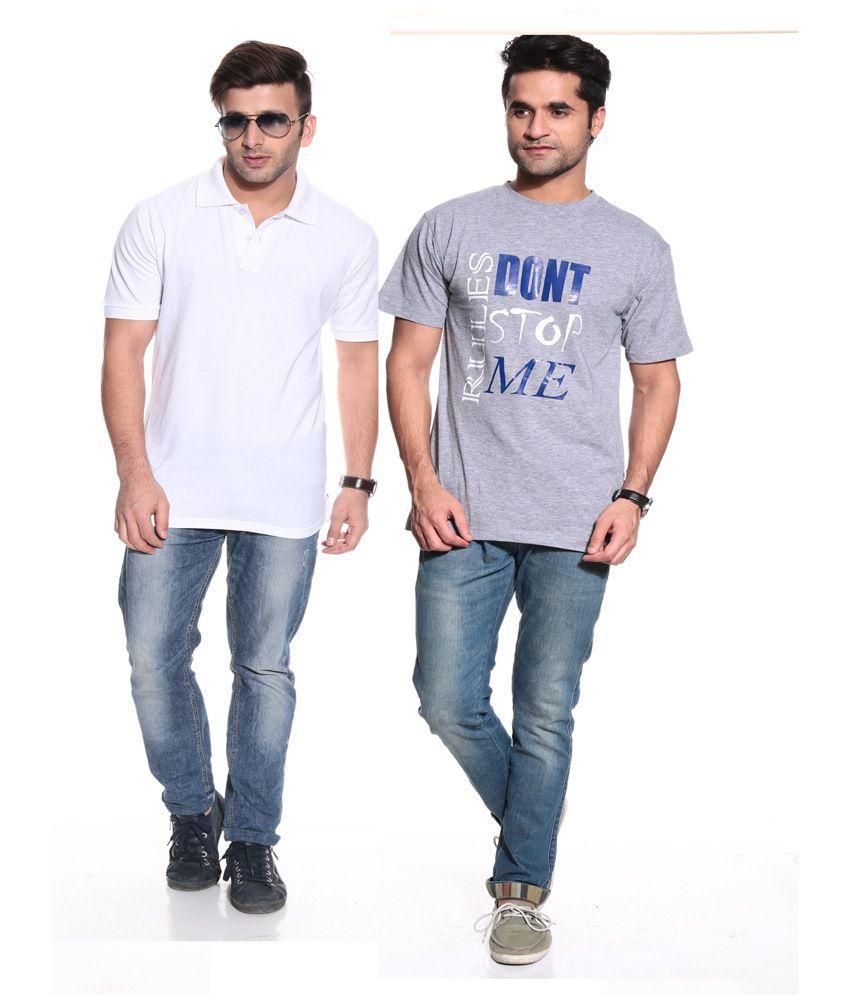 3b5b5ac16 Posh 7 Multicolor Cotton Full Sleeves T - Shirt Combo Of 2 - Buy Posh 7  Multicolor Cotton Full Sleeves T - Shirt Combo Of 2 Online at Low Price -  Snapdeal. ...