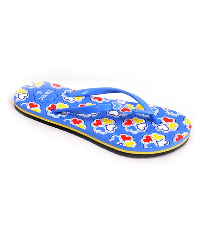 Tropic Blue Flat Flip Flops