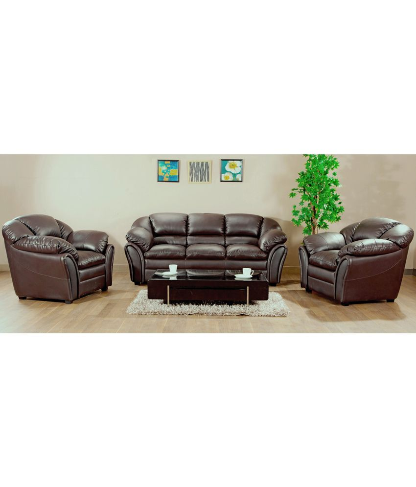 Hometown Milano Leatherite 3 2 1 Sofa Set Buy Hometown
