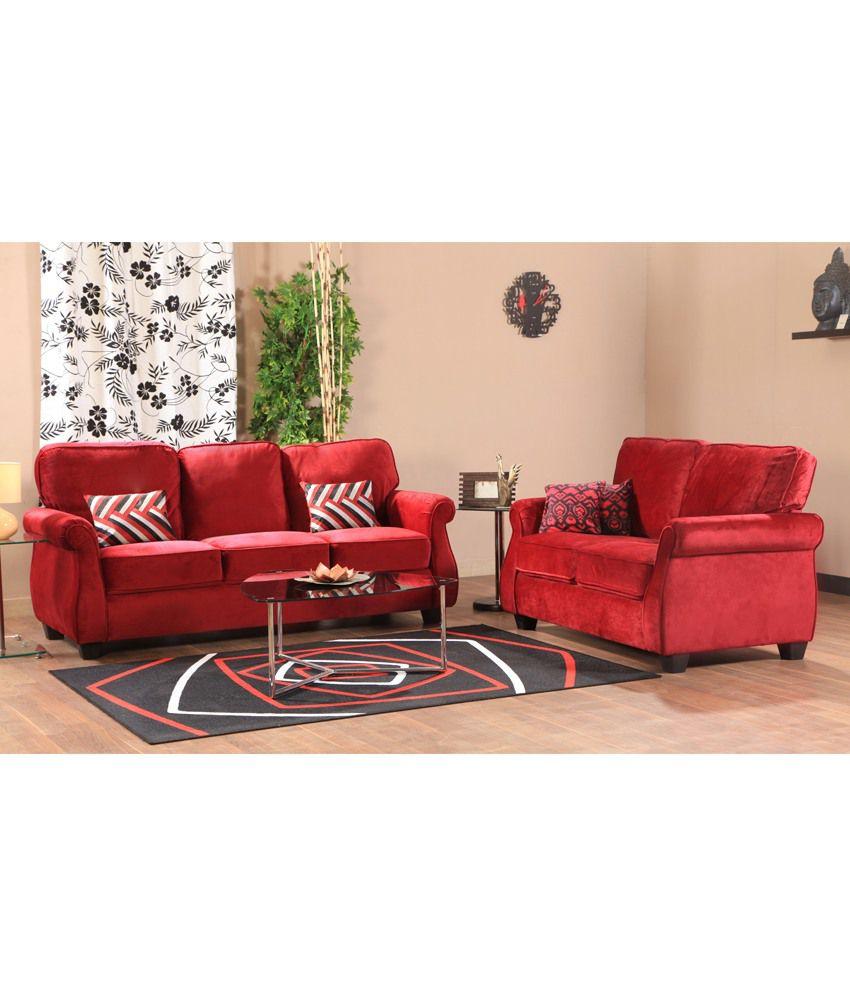HomeTown Victoria Fabric 3+2 Sofa Set ...