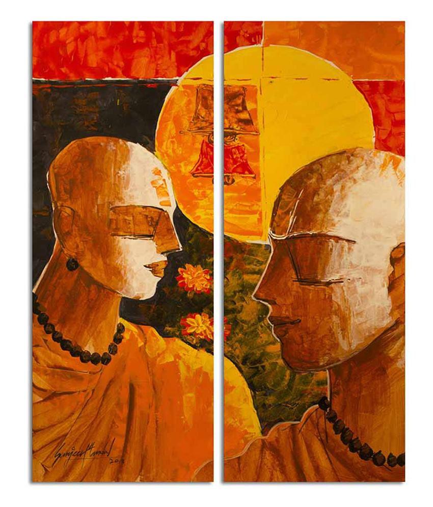 Painting Mantra Spiritual Connection Canvas Art Set