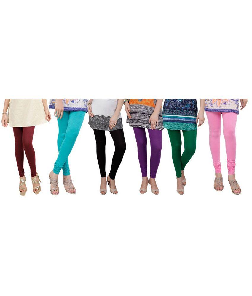 Dailywear Poly-viscose Leggings - Pack Of 6