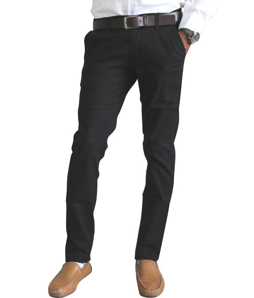 Vasnm Black Linen Semi Formal Trouser
