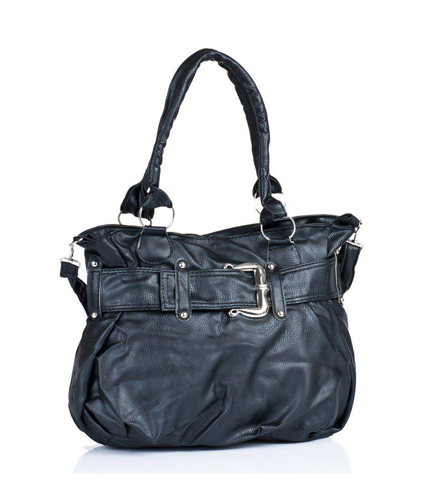 1 Bolzo Si-belt-blk Black Shoulder Bags
