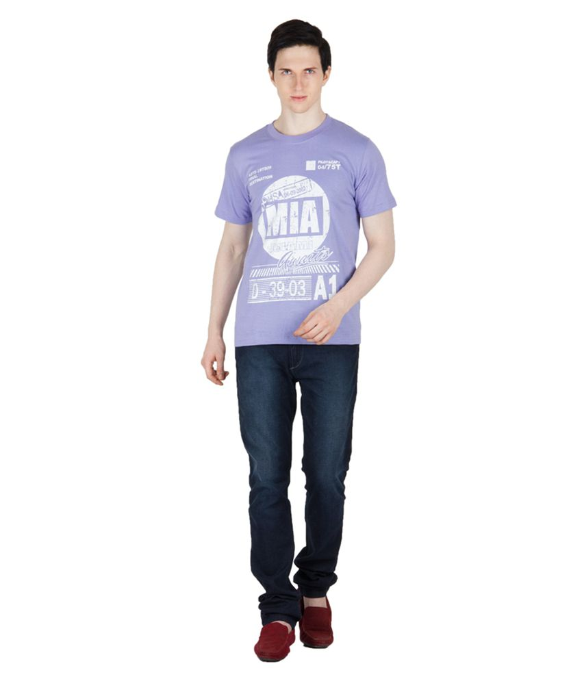 Dazzgear Purple Cotton T-Shirt