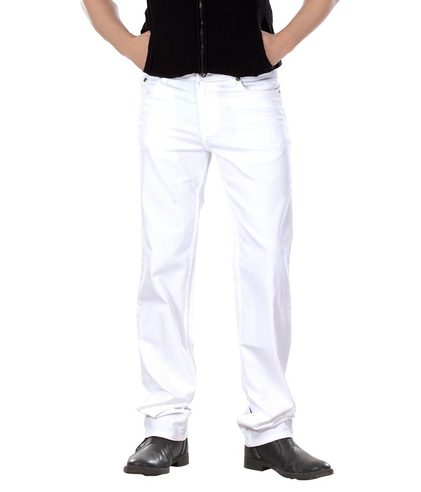 Dragaon Jeans White Relaxed Basic