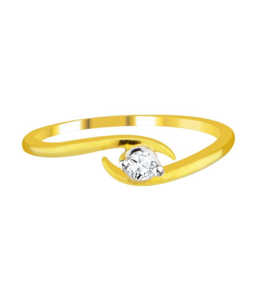 Sri Jagdamba Pearls 18kt Gold Delight Diamond Ring