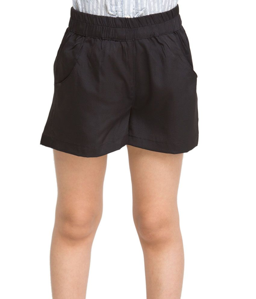 OXOLLOXO Black Color Shorts For Kids