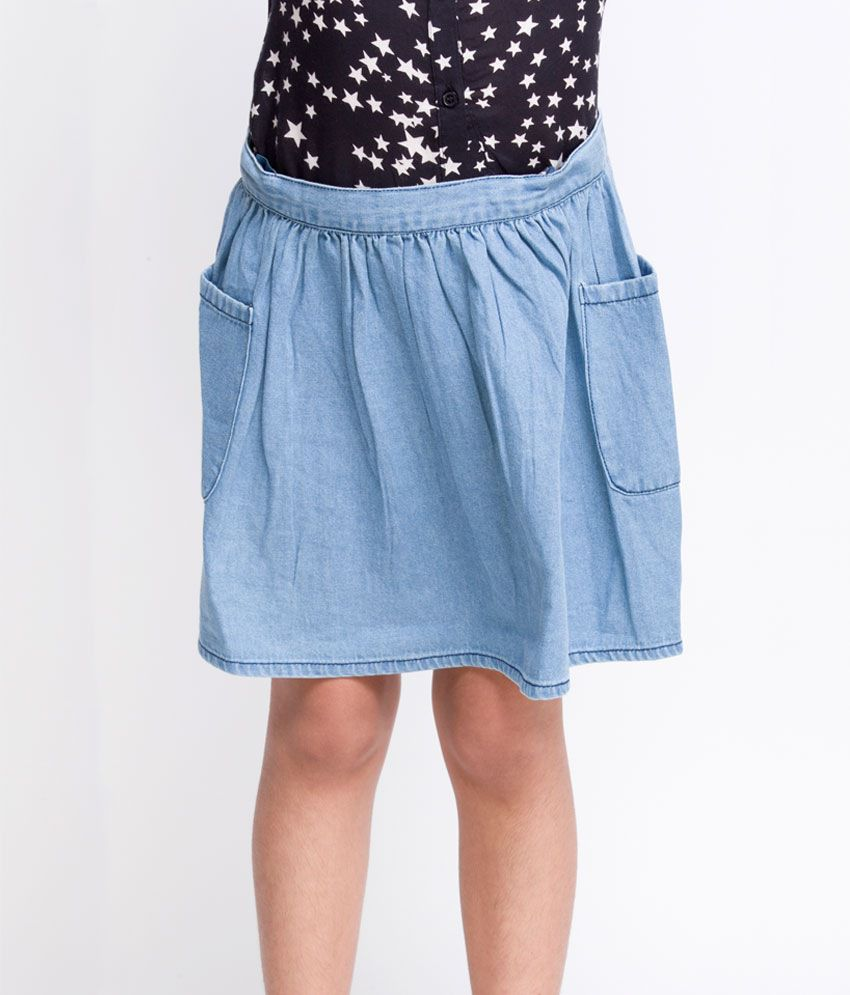 OXOLLOXO Blue Color Skirts For Kids