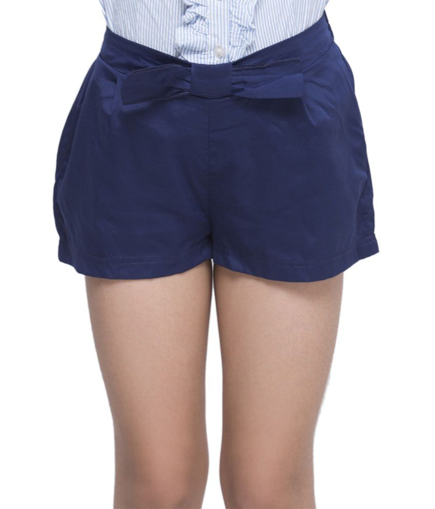 OXOLLOXO Navy Blue Color Shorts For Kids