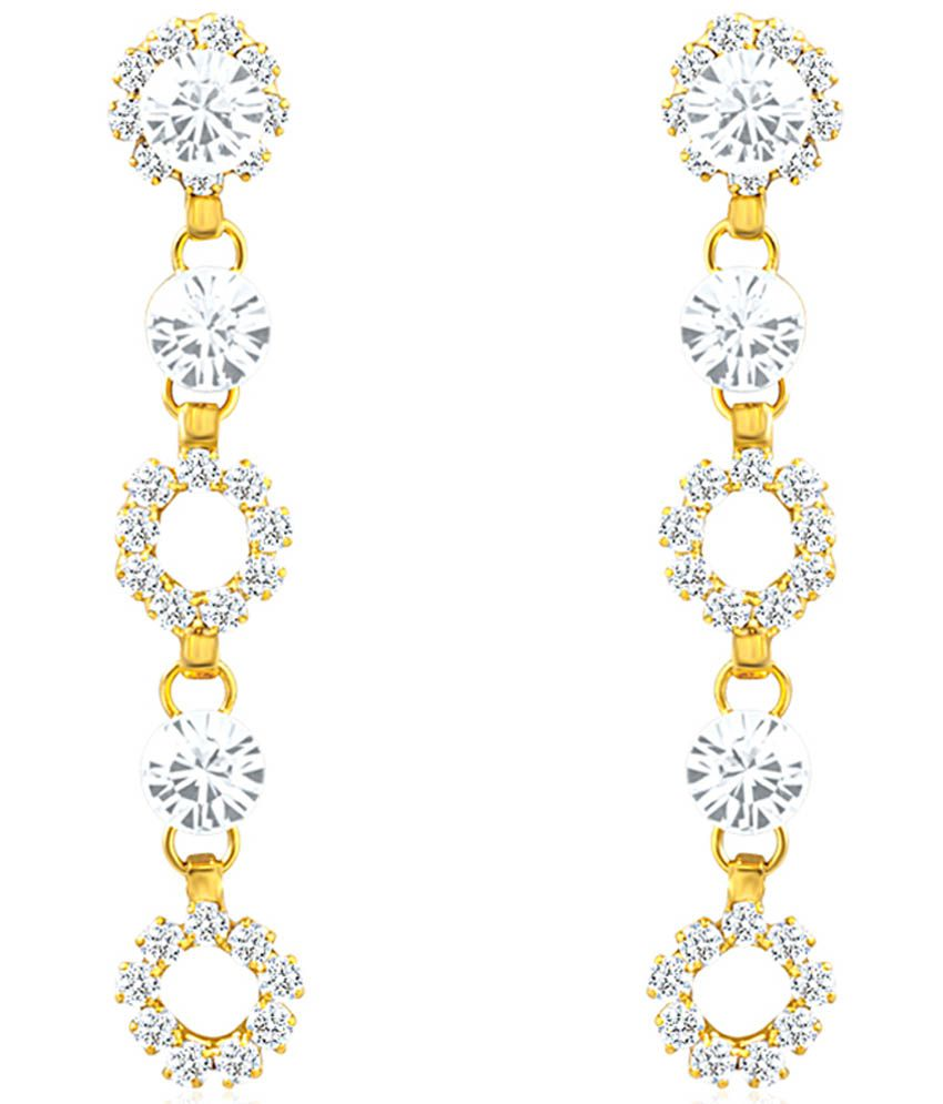 Oviya Gold Plated Fashion Forever Earrings With Crystal For Women ER2191047G