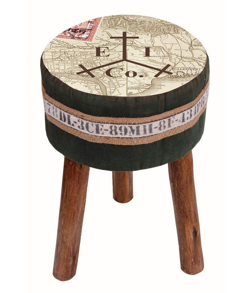 kraftorium solid wood ethnic india stool best price in