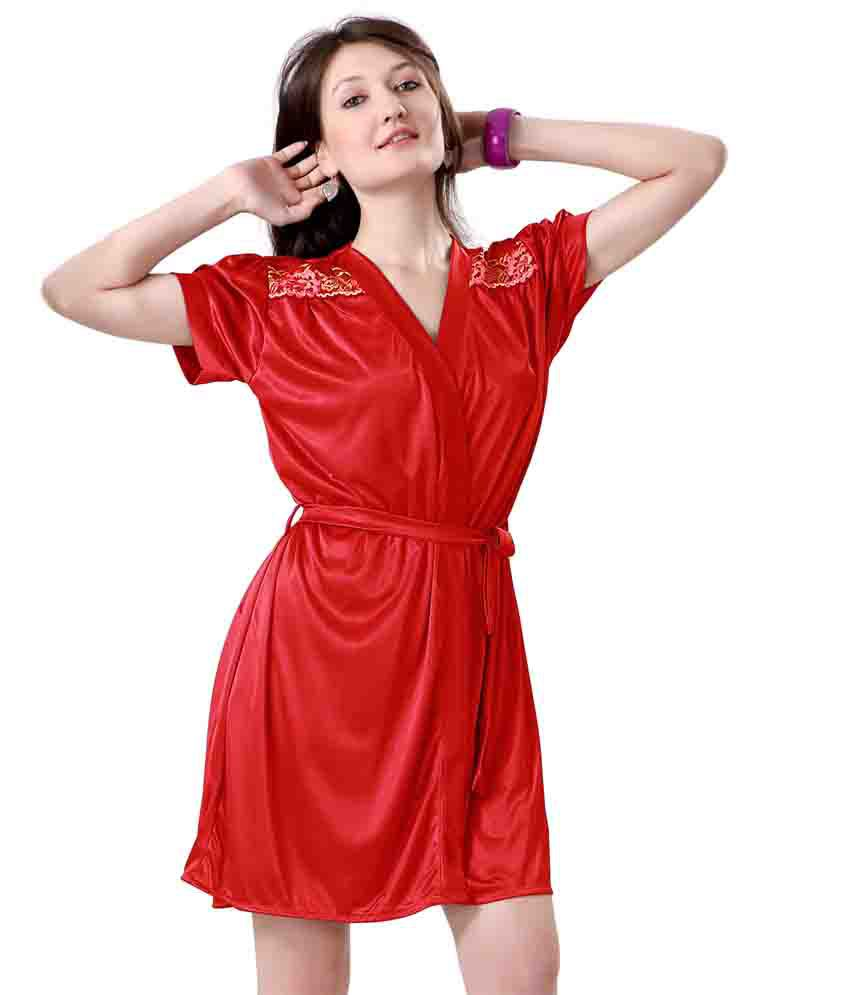 25111d9d9c Buy Hot N Sweet Red Satin Nightsuit Sets Online at Best Prices in India -  Snapdeal