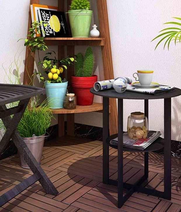 Housefull Jaz Corner Table in Wenge Finish