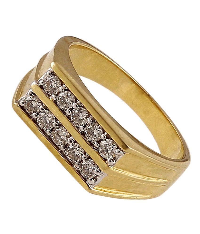 Ratnam Designer 18k Gold Real Diamond Gents/boy Ring: Buy Ratnam ...