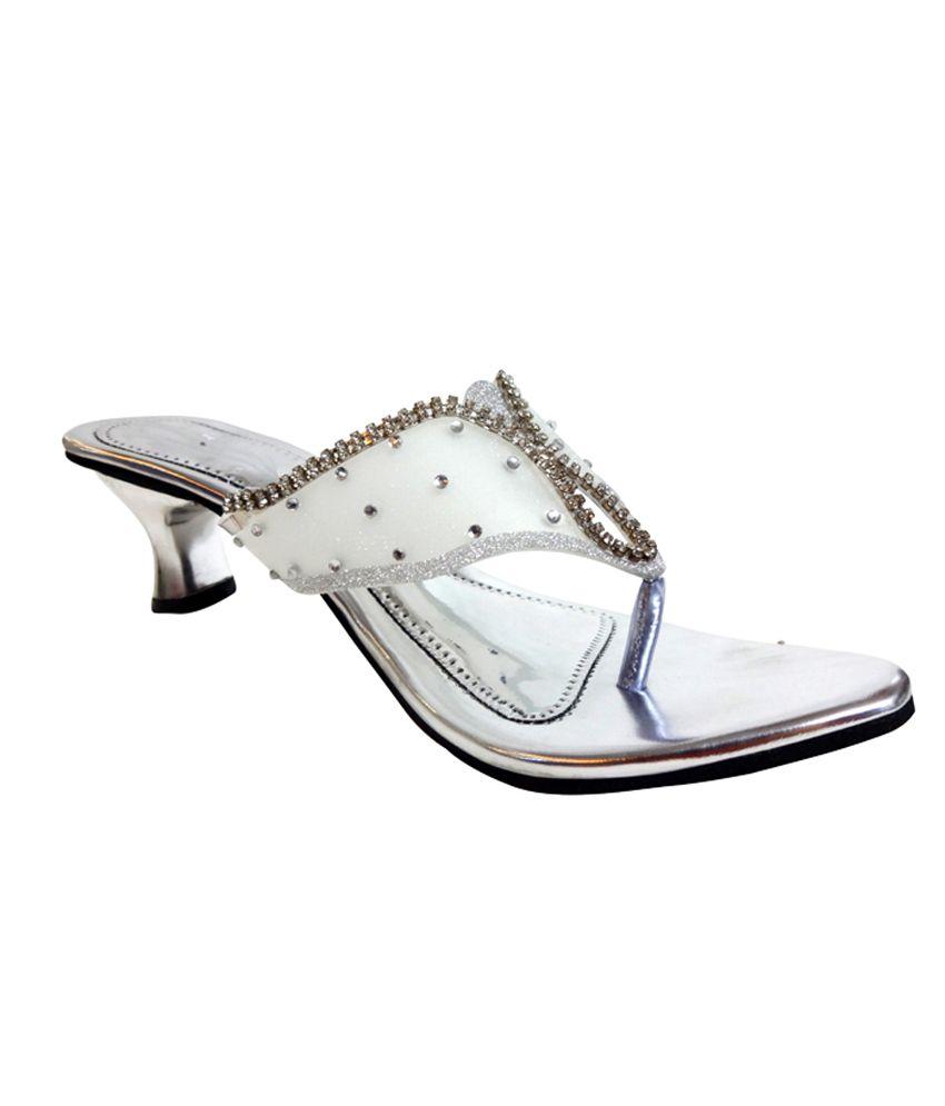 Selfie Silver Stylish Heels
